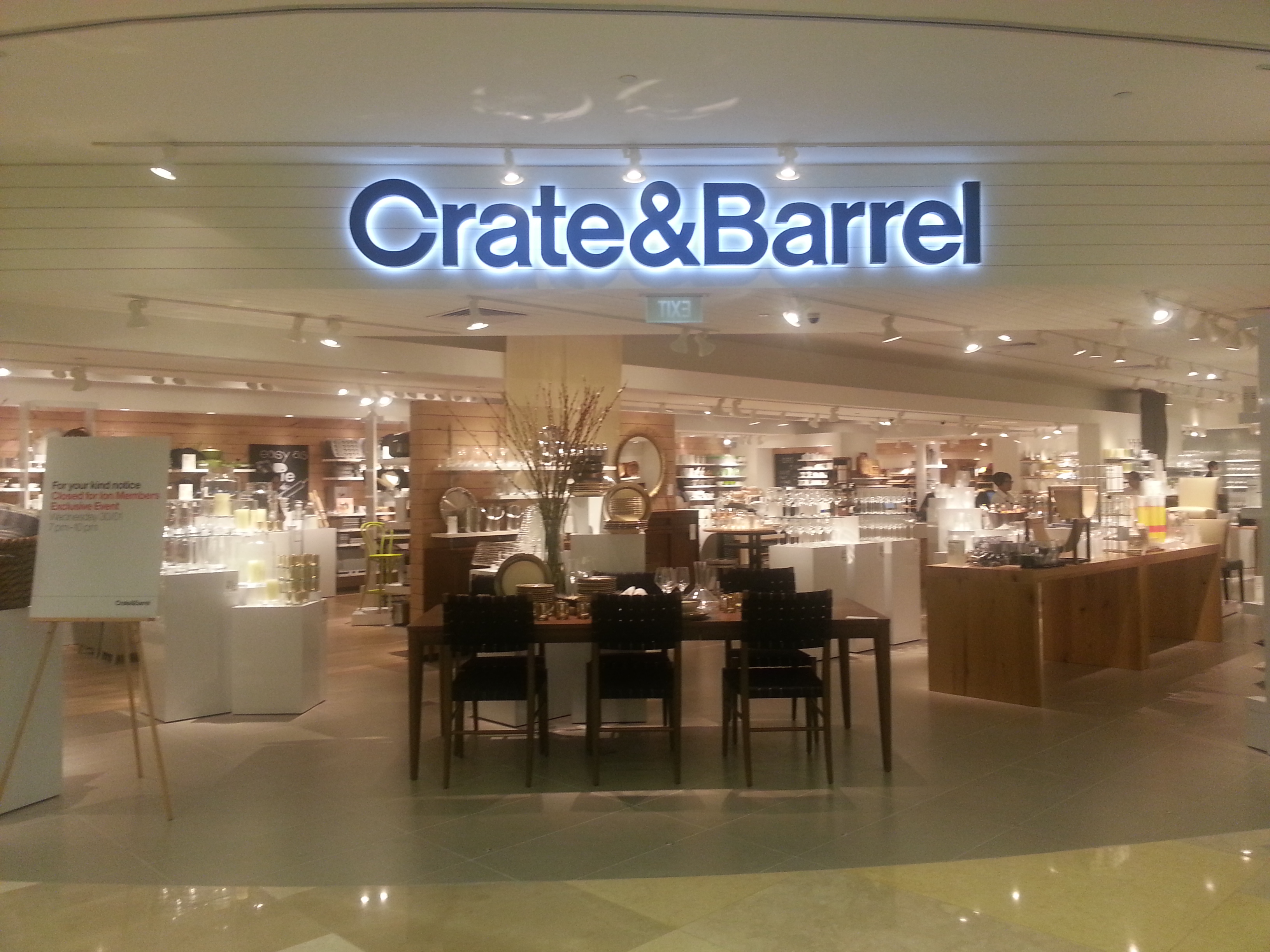 crate and barrel has come to singapore expat bostonians. Black Bedroom Furniture Sets. Home Design Ideas