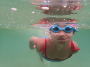 Ellie swimming